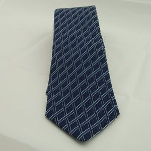 Michael Kors Navy Blue Checkered Tie